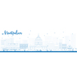 Montpelier outline vector image vector image