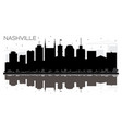 nashville tennessee usa city skyline black and vector image vector image
