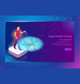 navigation in augmented reality service web banner vector image