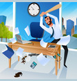 nervous breakdown because of stress at work vector image