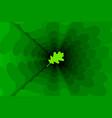 oak leaf on green background vector image