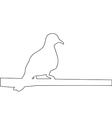 Pigeon sits on a pole path on the white background vector image