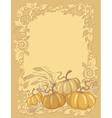 pumpkin background vector image vector image