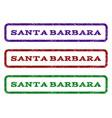 santa barbara watermark stamp vector image