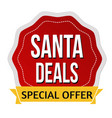 santa deals sign or stamp vector image vector image