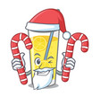 santa with candy lemonade mascot cartoon style vector image vector image