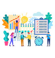 scheduled meeting in the office business vector image