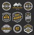 set bicycle badge logo template design vector image