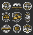 Set of bicycle badge logo template design vector image vector image