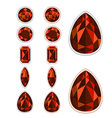 set of five forms of Spinel vector image vector image