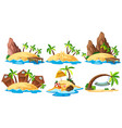 set of island collection vector image