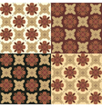 Set of seamless ornamental patterns in brown tones vector image vector image