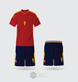 spain team uniform vector image vector image