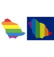 spectrum pixel dotted saudi arabia map vector image
