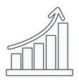 statistics graphics cartoon vector image vector image