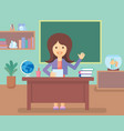 teacher in class room vector image vector image