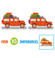 truck find 10 differences vector image vector image