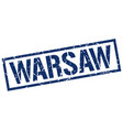 warsaw blue square stamp vector image vector image