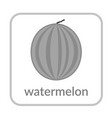watermelon icon outline flat sign isolated white vector image