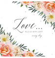 wedding floral invite greeting card postcard card vector image vector image