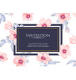 wedding invitation with wild rose flowers vector image vector image