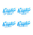 winter sale winter lettering labels winter mid vector image