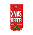 xmas offer banner design vector image vector image