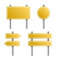 Yellow Road Sign Set on White Background vector image vector image