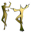dancing spanish couple vector image