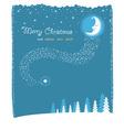 nice moon and stars christmas card vector image