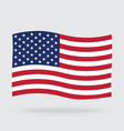 usa waving flag isolated on background vector image