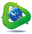 logo recycled planet vector image