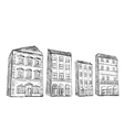 Set of hand drawn houses vector image
