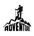 climber on a mountain vector image