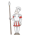 Ancient warrior pikeman vector image vector image