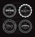 antique badge vintage label circle retro design vector image