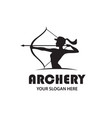 archering girl emblem vector image