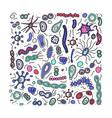 bacteria cells set composition vector image