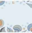 banner template with seashells vector image vector image