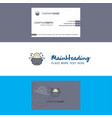 beautiful robot logo and business card vertical vector image