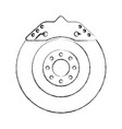 brake disc engine part vector image vector image