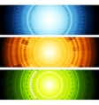 Bright abstract tech banners vector image vector image