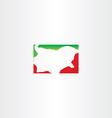 bulgaria map logo icon vector image vector image