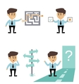 Businessman search decision vector image
