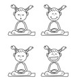 Cartoon happy kids meditation vector image