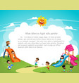 children playing in the playground vector image