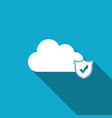 cloud and shield with check mark icon isolated vector image vector image