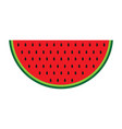 color watermelon icon isolated on background mode vector image vector image