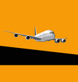 commercial jet airliner in dawn sky vector image vector image