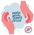 coronavirus protect yourself covid-19 wash your vector image